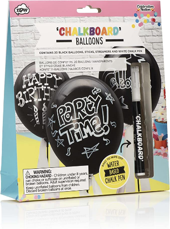 NPW-USA Make Your Own Chalkboard Balloons and Pen Set, All Occasion