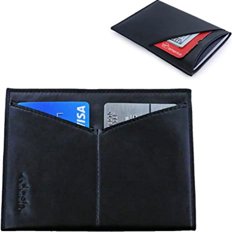 Dash Co. Passport Wallet : Minimalist RFID Sleeve for Travel Stops Electronic Pick Pocketing Works Against Identity Theft & Credit Card Data Breach (Classic Leather)