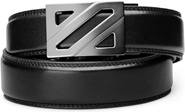 "KORE Men's Full-Grain Leather Track Belt | ""Epic"" Alloy Buckle"