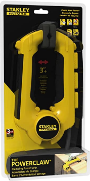 Stanley 32050 FatMax Power Claw with Grounded 3-Outlet Clamping Power Strip