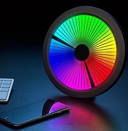 Chromatic: LED Color Spectrum Clock. Mind Blowing and Twisting Mesmerizing Excellent Clock. Full Color Spectrum