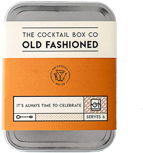 The Cocktail Box Co. Premium Cocktail Kit - The Old Fashioned - Makes 6 Premium Hand Crafted Cocktails. Great gift for any cocktail lover and makes the perfect travel companion! (1 Kit)