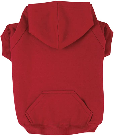 """Zack & Zoey Basic Hoodie for Dogs, 12"""" Small, Tomato Red"""