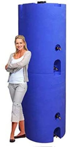 WaterPrepared 160-320 Gallon Capacity Emergency Water Storage Tanks BPA Free, Portable, Food Grade Plastic (320 Gallons (2 Tanks))