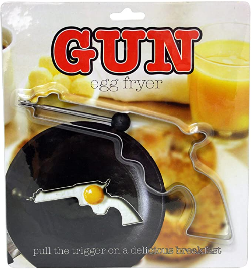 Island Dogs 54677 Gun Egg Fryer, Silver,Small