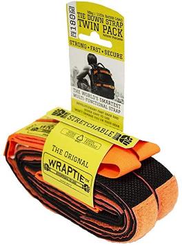 WRAPTIE Quick Tie Down Straps (Set of Two) (6 ft)