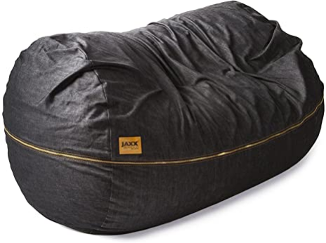 Jaxx 7 ft Giant Bean Bag Sofa, Black Denim
