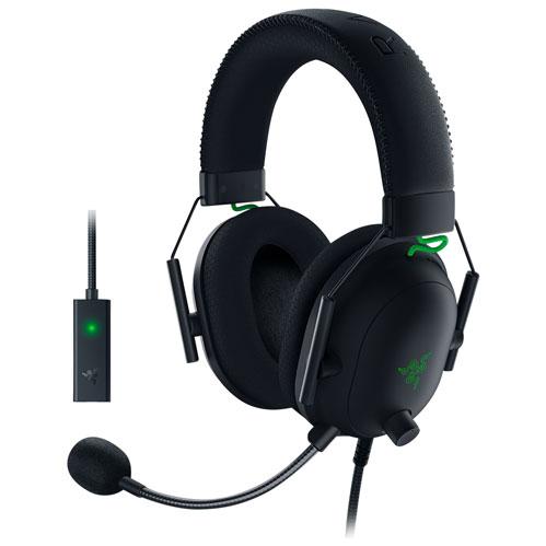 Razer BlackShark V2 Gaming Headset with Microphone & USB Sound Card - Black/Green