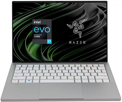 "Razer Book 13 Laptop: Intel Core i7-1165G7 4 Core, Intel Iris Xe, 13.4"" FHD+ Touch (1920 x1200), 16GB RAM, 256GB PCIe M.2, CNC Aluminum, Chroma RGB, Thunderbolt 4, Intel Evo Certified, Mercury White"