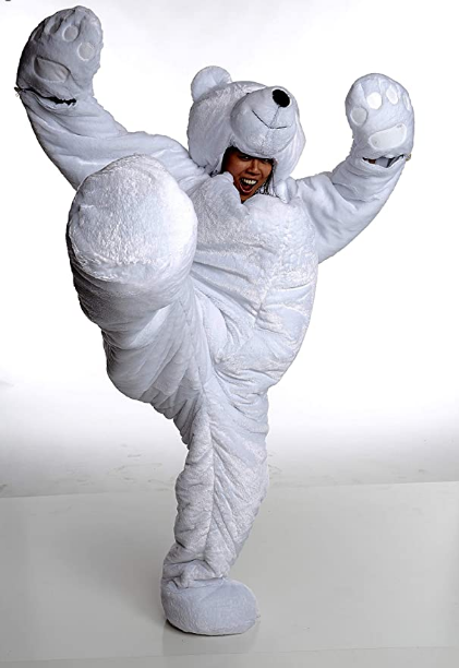 Adult Polar Bear SnooZzoo Sleeping Bag for Adults up to 75 inches Tall.