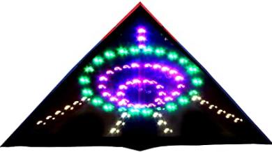 HENGDA KITE 136 LED Night Kite Soft Cloth UFO Flying Saucer Super Bright LED Luminous Kite