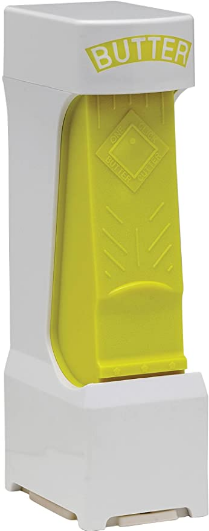 Inventions for Market One Click Stick Butter Cutter with Stainless Steel Blade, Yellow