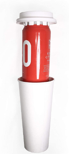 Trinken Lids - The Ultimate Stealth Cooler Snaps On Top Of Cans, Suspends in Cup, Insulates and Hides Keeping Drinks Cold and Discrete (White)