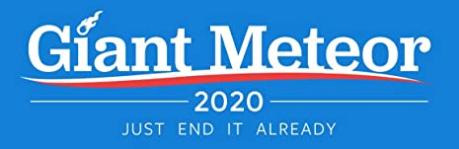 Giant Meteor 2020 Bumper Sticker