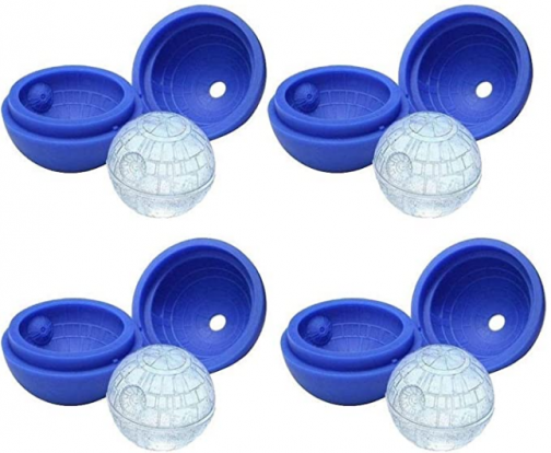 MEKBOK 4-Pack of Star Wars Death Star Silicone Ice Molds …
