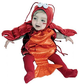 In Fashion Kids Baby Lobster Costume - Size 6-18 Months Red
