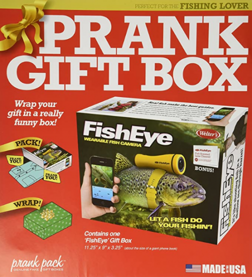 """Prank Pack """"Fish Eye"""" - Wrap Your Real Gift in a Prank Funny Gag Joke Gift Box - by Prank-O - The Original Prank Gift Box 
