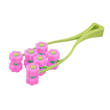 BIAL Massage Facial Massager Thin Face-lift Elastic Facial Roller Massage Cogit Cellulose Roller for Face Up (Pink)