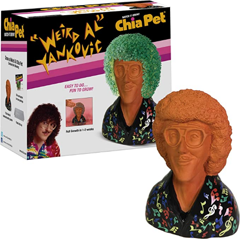 """Chia Pet """"Weird Al"""" Yankovic with Seed Pack, Decorative Pottery Planter, Easy to Do and Fun to Grow, Novelty Gift, Perfect for Any Occasion"""