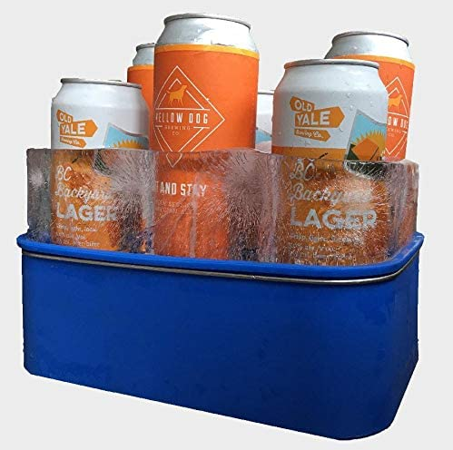 Trinken Mold for Solid Ice Beer Tray to Cool Drinks Beverages can or Bottles, Portable Cooler Like ice Bucket Perfect for BBQ, Party, Beach, Outdoors