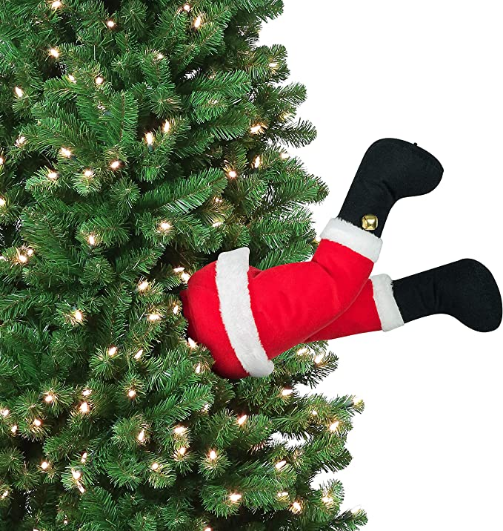 """Mr. Christmas 30463 Indoor Animated Christmas Kickers 16"""" - Santa Holiday Decoration, inch, Red"""