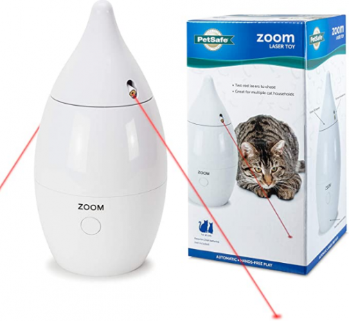 PetSafe Zoom - Automatic, Interactive, Rotating Laser Cat Toy with Two Lasers