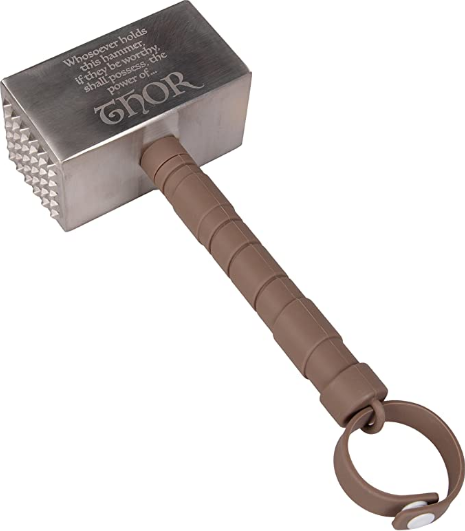 Seven20 Marvel Thor Mjolnir Hammer Meat Tenderizer - Tenderize Your Meat with The Power of A God