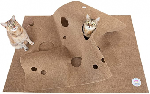 SnugglyCat The Ripple Rug - Cat Activity Play Mat - Insulated Base Keeps Kitty Warm - Fun Interactive Play - Training - Scratching - Bed Mat