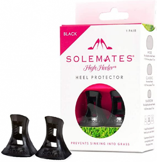 Solemates High Heel Protectors (Black, Narrow)