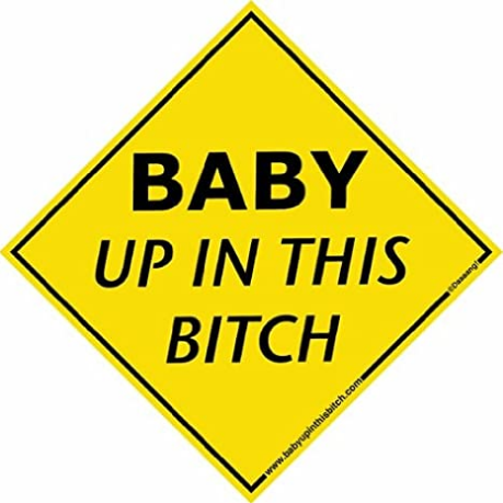Baby Up In This Bitch Decal