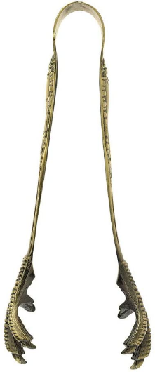 Barfly Talon Ice Tong, Antique Brass