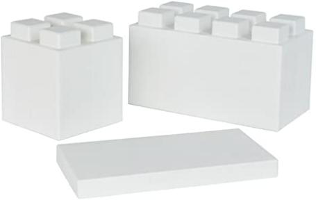EverBlock Modular Building Blocks - Single Color Mixed Block Combo Pack - 26 White Blocks