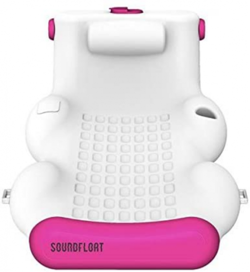 SoundFloat Bluetooth Single Lounger for the Pool and Lake (Pink)