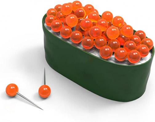 Genuine Fred Maki Tacks Sushi Pushpins and Holder