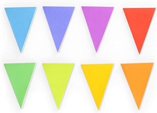 Genuine Fred BANNER DAY Pennant Sticky Note Pads, Set of 8