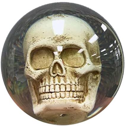 Bowlerstore Clear Skull Bowling Ball, Clear, 14