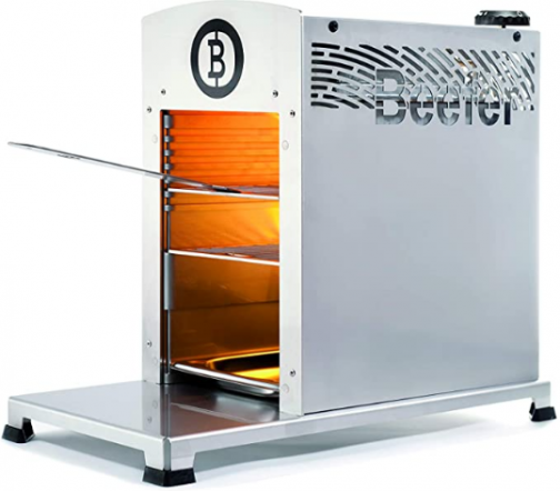 Beefer The 1,500 Degree Grill - 100% Stainless Steel - The Original for Perfect Steaks, Burgers and so Much More · Indoor & Outdoor