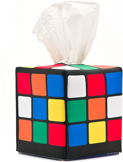 Big Bang Theory Gifts- CoolTVProps Rubiks Cube Box- Cool Apartment Accessories Rubiks Cube Box- Nerd Office Decor