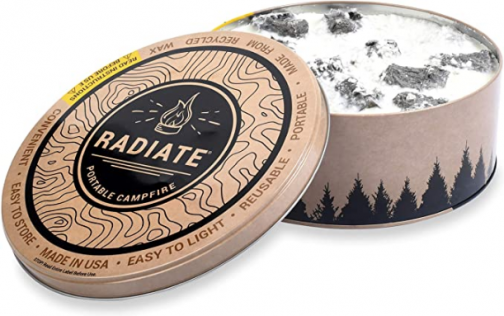 Radiate Portable Campfire: The Original Go-Anywhere Campfire | Lightweight and Portable | 3-5 Hours of Bright and Warm Burn Time | Convenient-No Embers-No Hassle | Made in USA | Standard Campfire