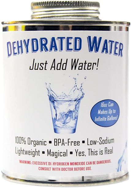Witty Yetis Dehydrated Water 16oz Can. NEW Formula! Essential Camping & Survival Supply. Funny Gag Gift & Adult Stocking Stuffer for Men & Women. Hilarious Novelty & Practical Joke.
