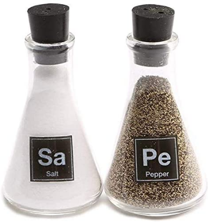 Wink Science Flask Salt and Pepper Shakers