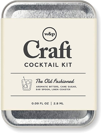 W&P Old Fashioned Craft Portable Drinks on the Go, Carry On Cocktail Kit, Makes A Gift, Single
