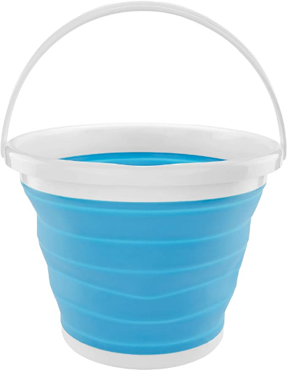 Southern Homewares Silicone Collapsible 2.65 Folding Gallon Bucket Blue