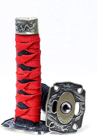 Kei Project Katana Samurai Sword Shift Knob Shifter Katana VIP Metal Weighted with Adapters Fits Most Cars (Red/Black)