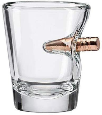 The Original BenShot Shot Glass with Real 0.308 Bullet MADE in the USA