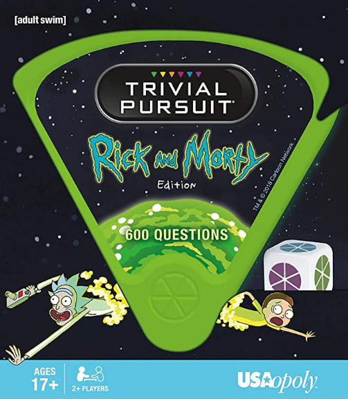 USAOPOLY Trivial Pursuit Rick & Morty - Quick Play Version | Trivia Questions Based On The Adult Swim Show Rick & Morty | Officially Licensed Rick & Morty Game