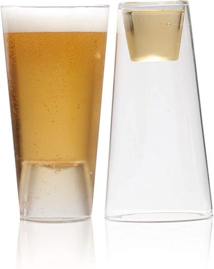 Highwave BEER/SPIRITS Glass, 16 oz, Clear