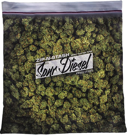 steelplant Giant Stash - Baggie of Cannabis Weed Pillowcase | Fits 18X18 Inch Pillow Insert