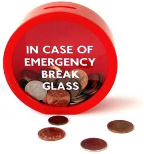 SUCK UK Emergency Money Box