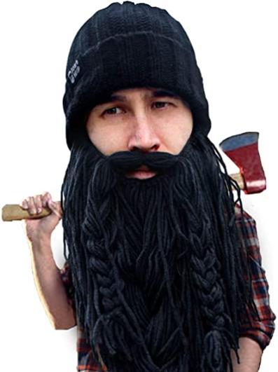 Beard Head Viking Looter - Original Handmade Knit Helmet and Removable Beard